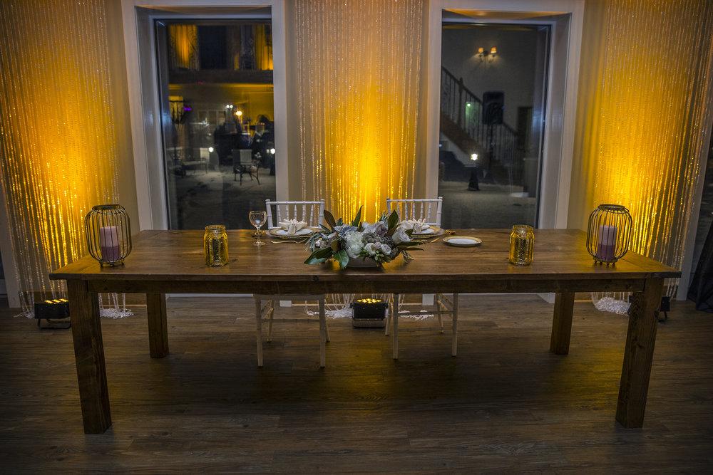 Head Table Set Up