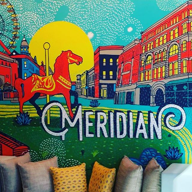 Here's a sneak peek of my mural at the new @trubyhilton location in Meridian, MS! Looking forward to stopping in on the way to the beach~ 🏝