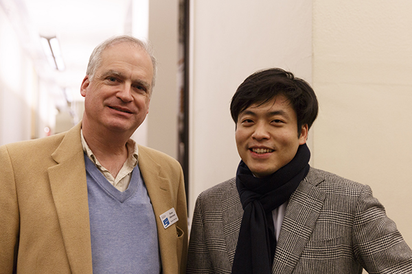 Sunwook with Artist Sponsor, Dean Alterman of Alterman Law Group  Photo Credit: John Rudoff
