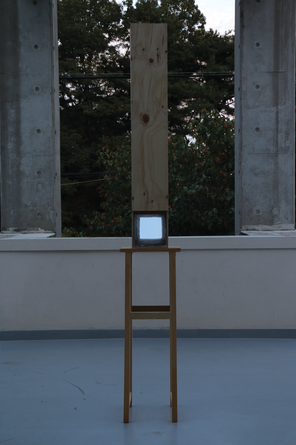 Sky level, 2016. wood,mirror, 28cmX30cmX215cm- IMG_2989-r.jpg