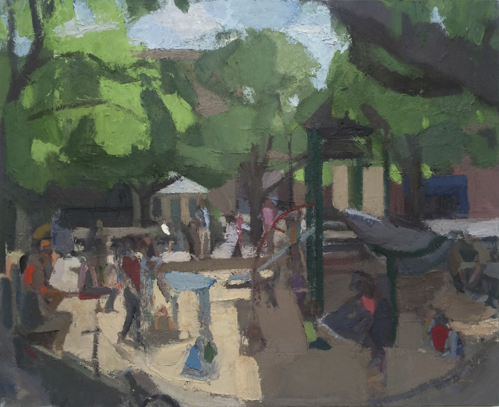 Playground Sandbox, 2008-15, Oil on linen, 44 x 54 inches. Click    HERE    for close up images.