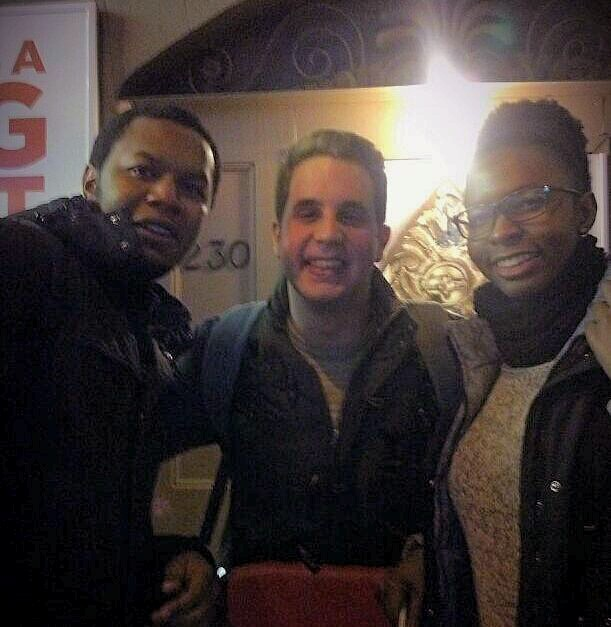 From left to right: Emmanuel, Ben Platt, Flora.