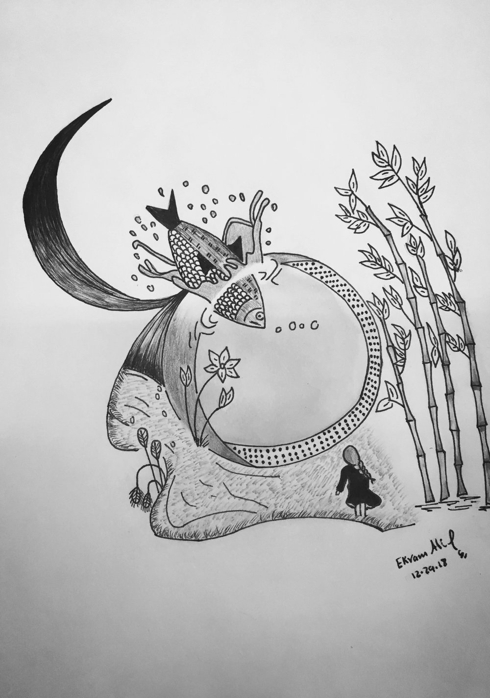 Drawing by Ekram Alrowmeim