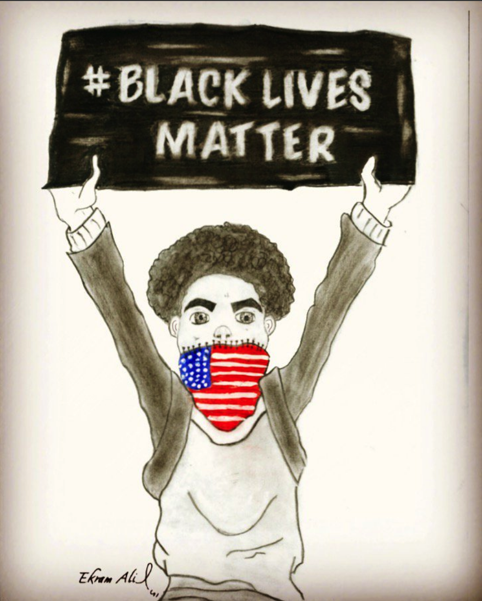 BLACK LIVES MATTER BY EKRAM ALROWMIEM
