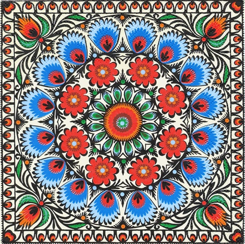 Polish Folk Art Dinner Napkins