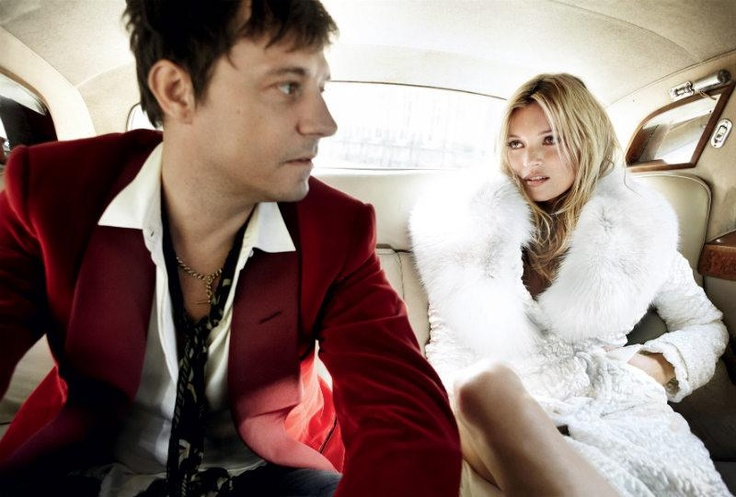 Kate Moss & Jamie Hince on their wedding day. Photo by Mario Testino.