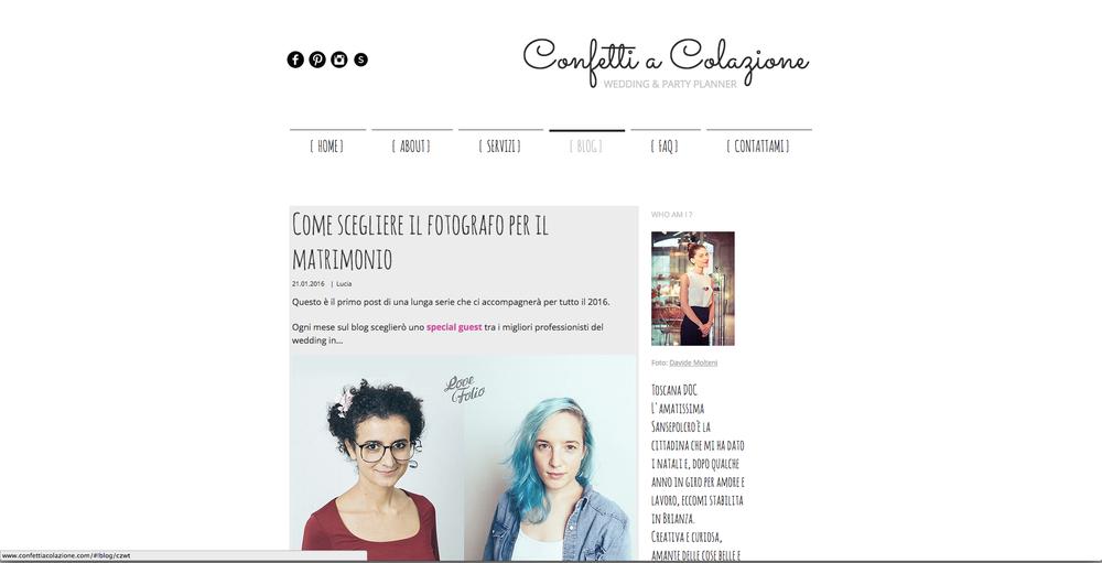 Agnese & Margherita ospiti sul blog di Confetti a Colazione!
