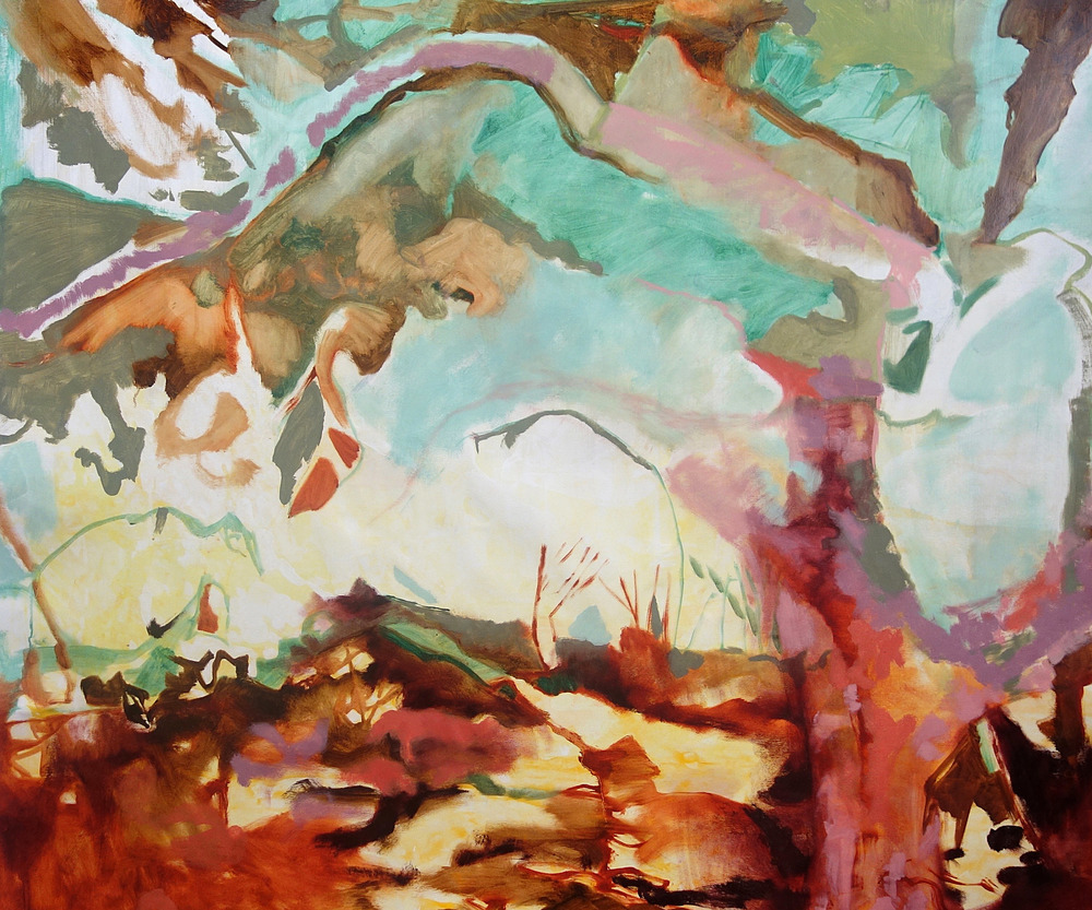 Grapeseed Canopy in Everglades, oil on linen, 56 x 52 inches, 2013