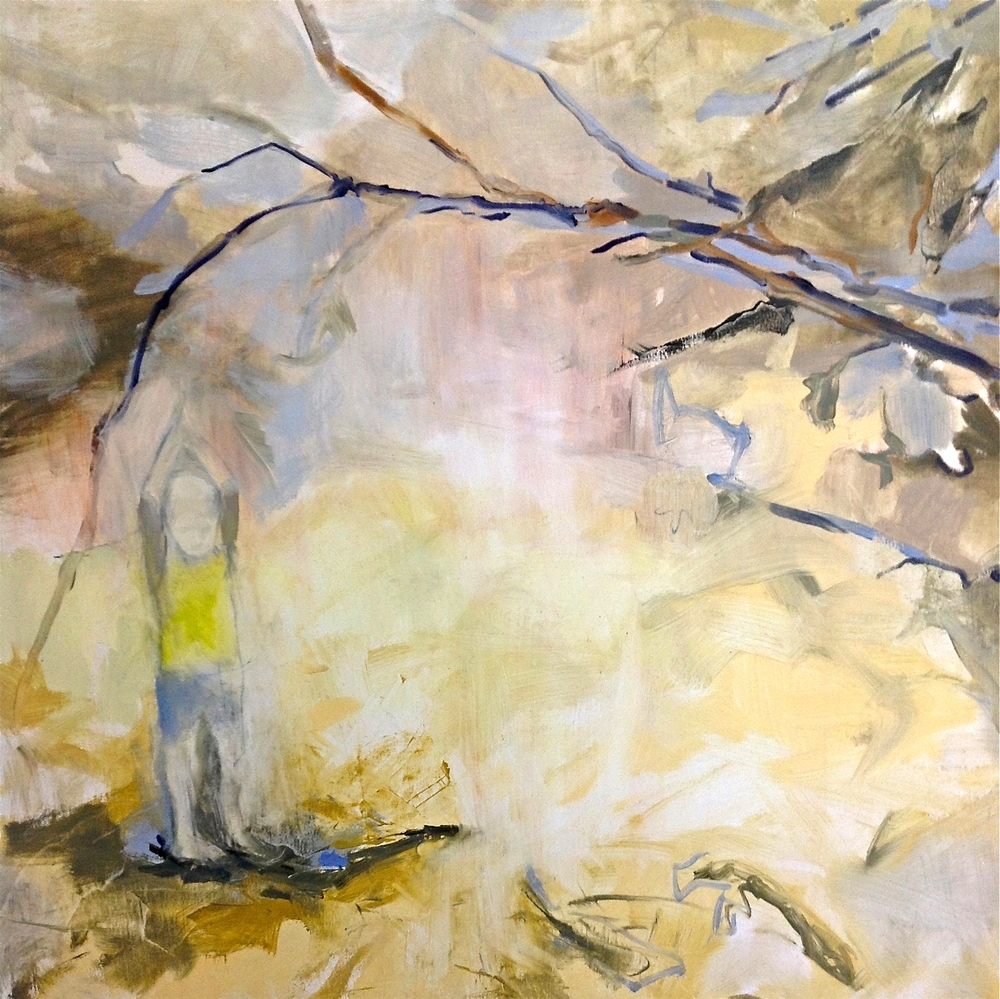 He Pointed to The Sky, oil on canvas, 36 x 36 inches, 2012