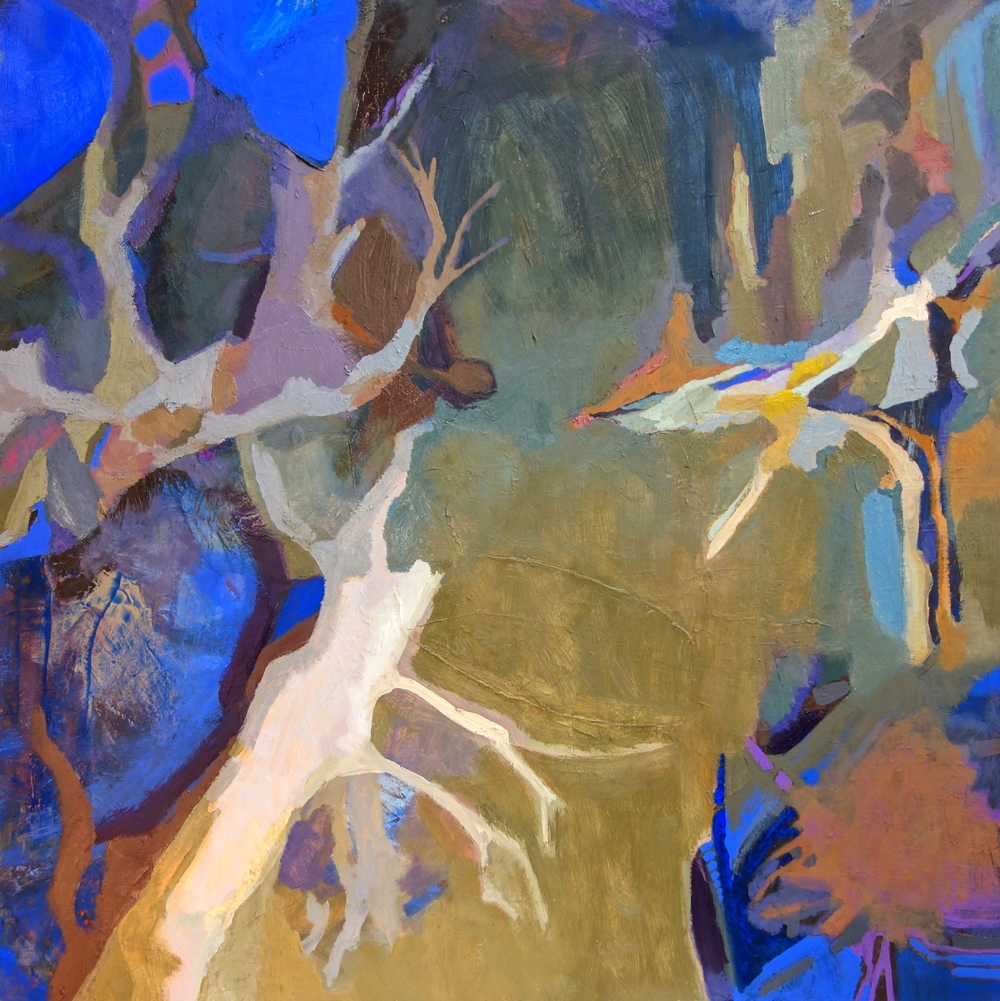 Moose Tree, oil on canvas, 36 x 36 inches, 2013