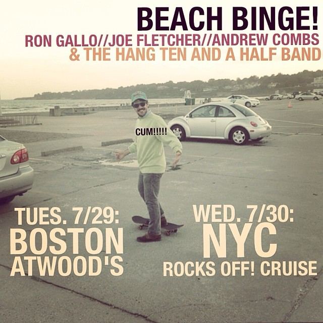 NYC! Playing on a cruise ship on Wednesday. And in Boston tomorrow! Get tickets now! #rocksoffcruise #nyc #yolo #beachbinge2014