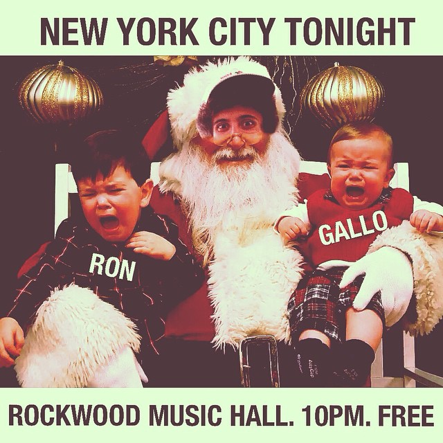NYC! Ron is playing a solo show tonight. @rockwoodmusichall 10pm. FREEEEE