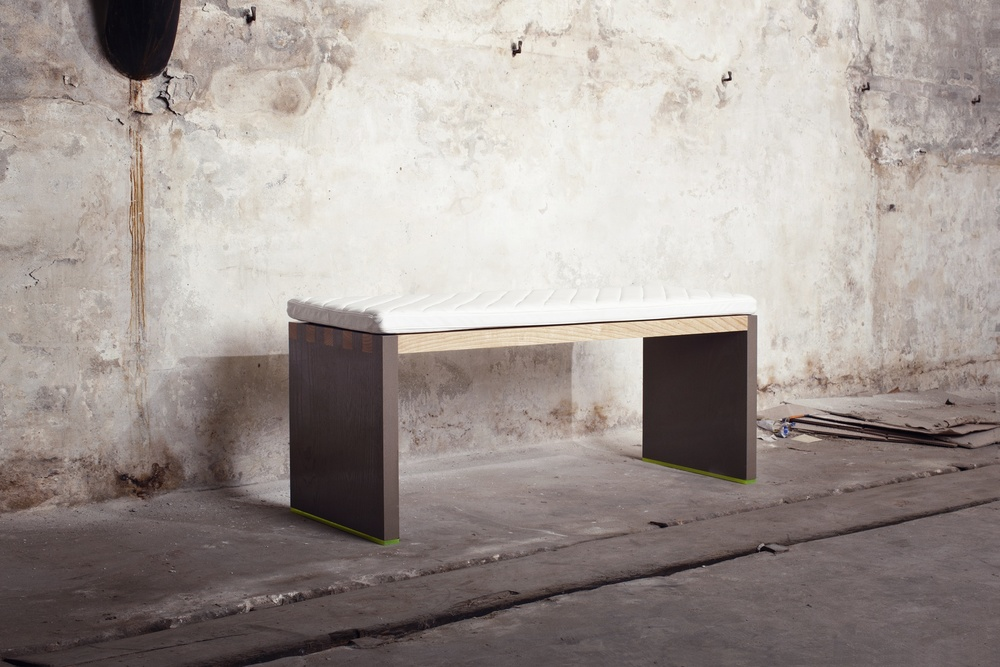 St. Anna Bench - White & Grey