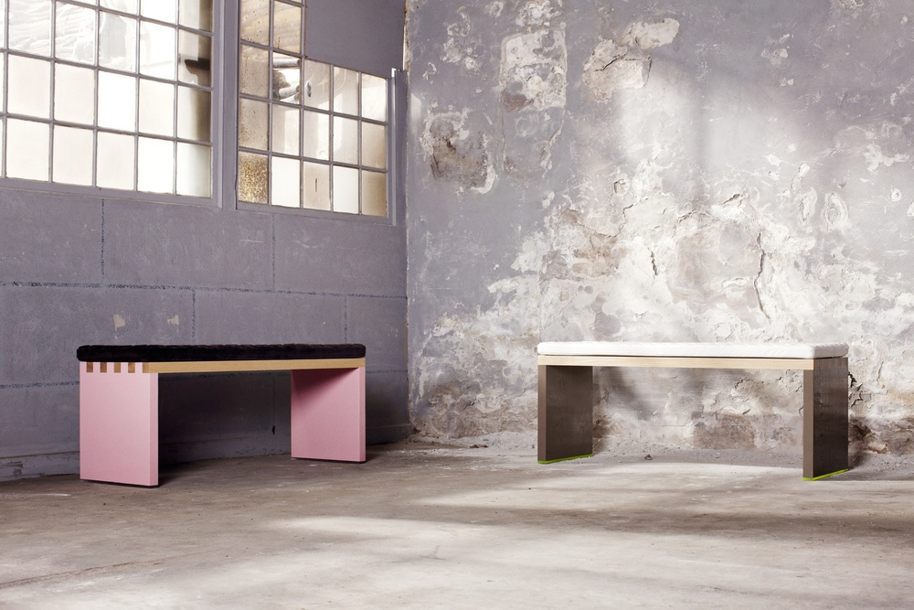 St. Anna Bench - Pink & Grey