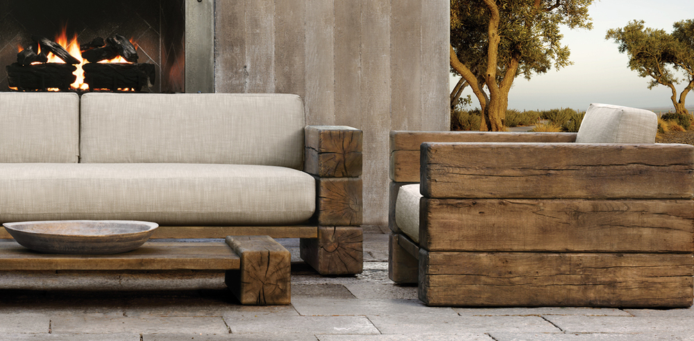 Aspen Collection for Restoration Hardware - Sofa, Lounge Chair and Coffee Table.