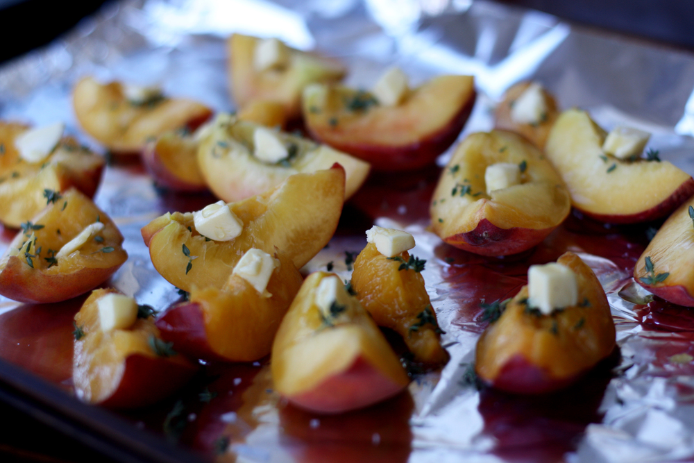 Roast Peaches with Thyme