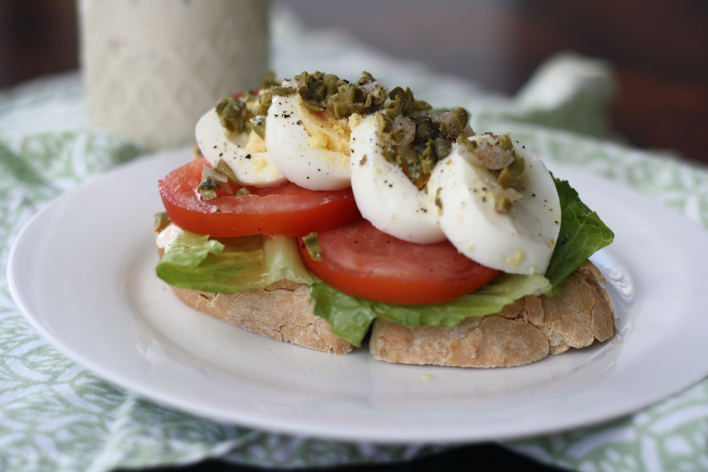 Egg Sandwich with Capers & Aioli