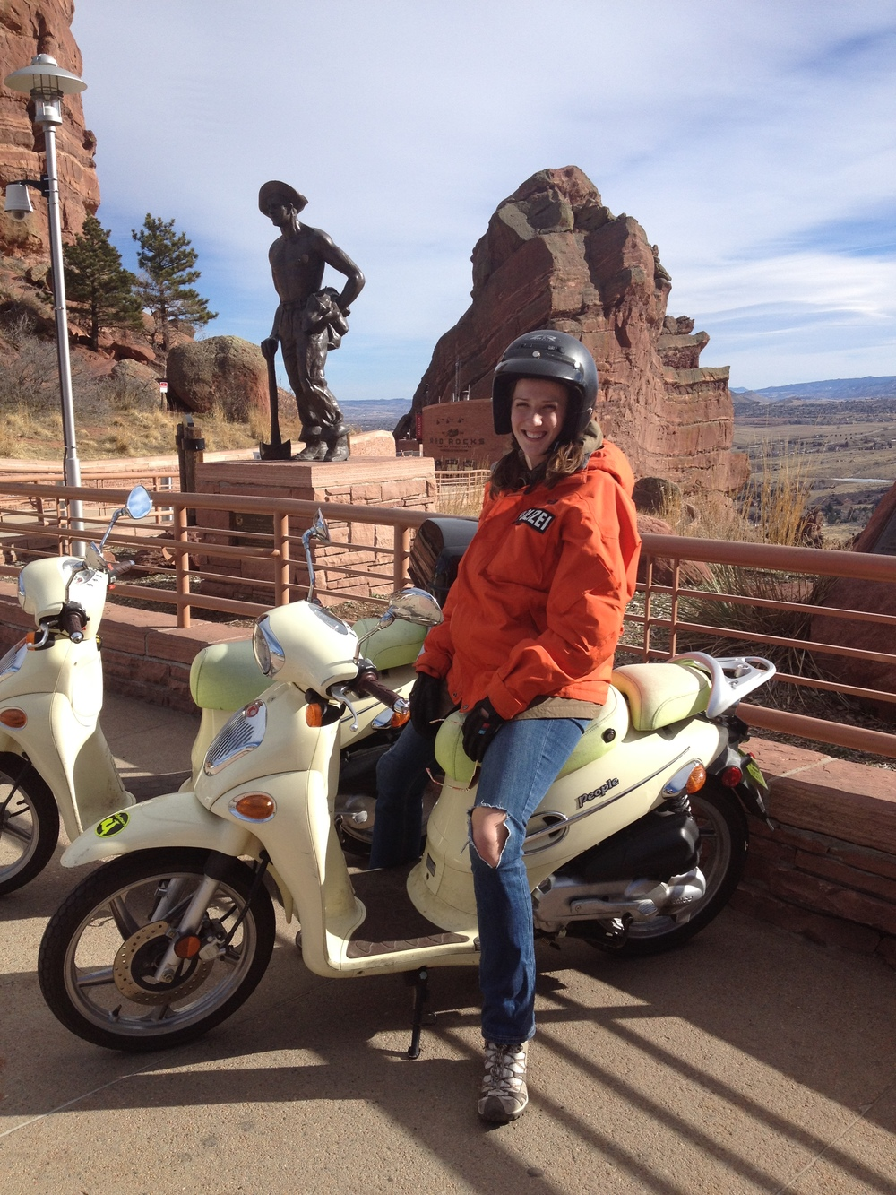 Confident and competent riders can ride to Red Rocks Amphitheatre.