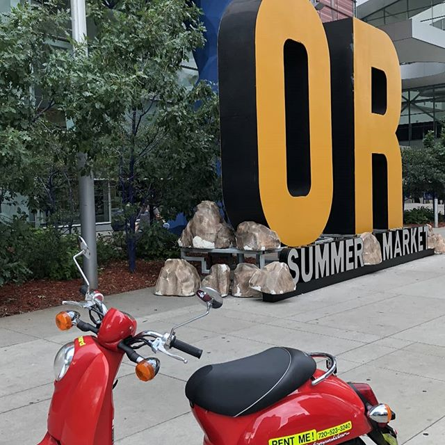 It is great to have the @outdoorretailer Summer Market with @coloradooutdoorrec at the @cccbluebear. We have some available Rent-and-Ride and some available Guided Tour spots tomorrow (Tuesday). scoo.tours/scootsched. See what others thought at scoo.tours/scooterTA