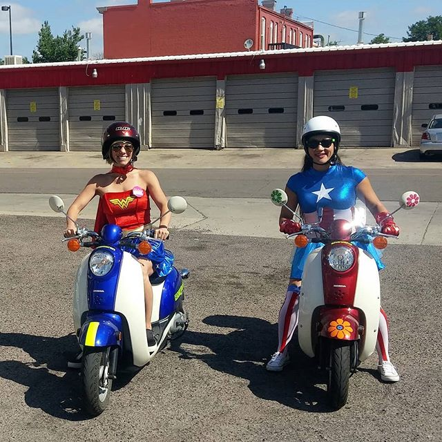 Superheroes. The world needs a few more.  #CuterOnAScooter #funinDenver #funthingstodoindenver #Denver #denveradventure #denvercolorado #scooterdenver #denveroutdoors #scoottoursdenver #scooter #moped #BestOfDenver #thingstodoindenver #theMileHighCity #Colorado #coloradoadventure #ScooterRentalDenver #DenverScooterRental