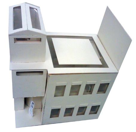 "1/16"" scale building model"