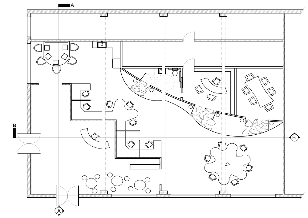 showroom floor plan