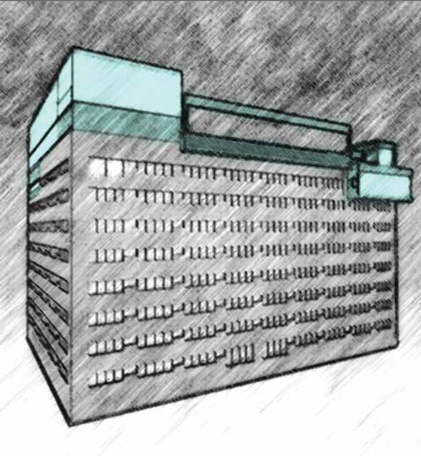 exterior building sketch I