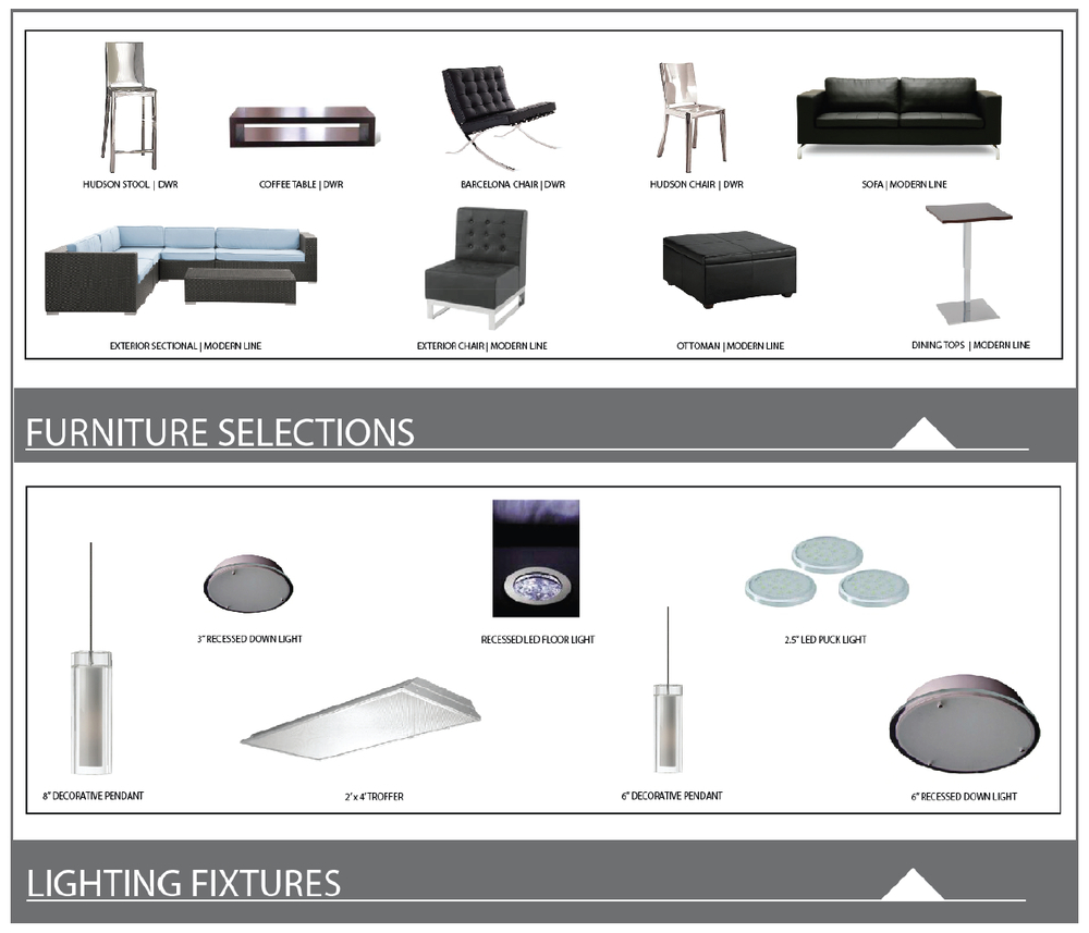 furniture | lighting selections