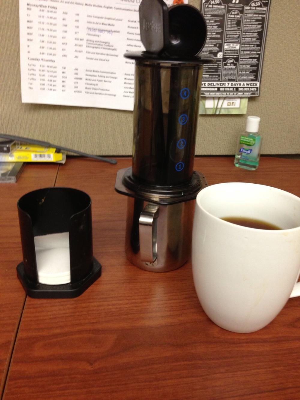 Coffee at Work: AeroPress