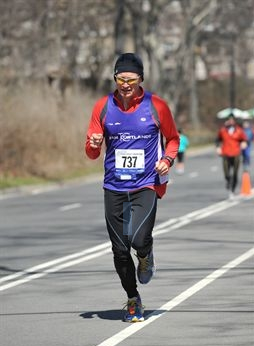 And they're off: the NYRR Colon Cancer 15k