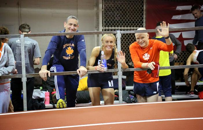 Track types: CPTC teammates Joe and Amy as our indoor season winds down.
