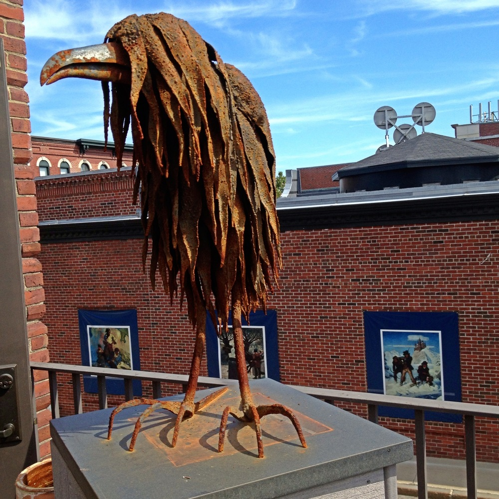 Nina Scott Hansen bird sculpture @ Harbor Square Gallery, Rockland, ME.