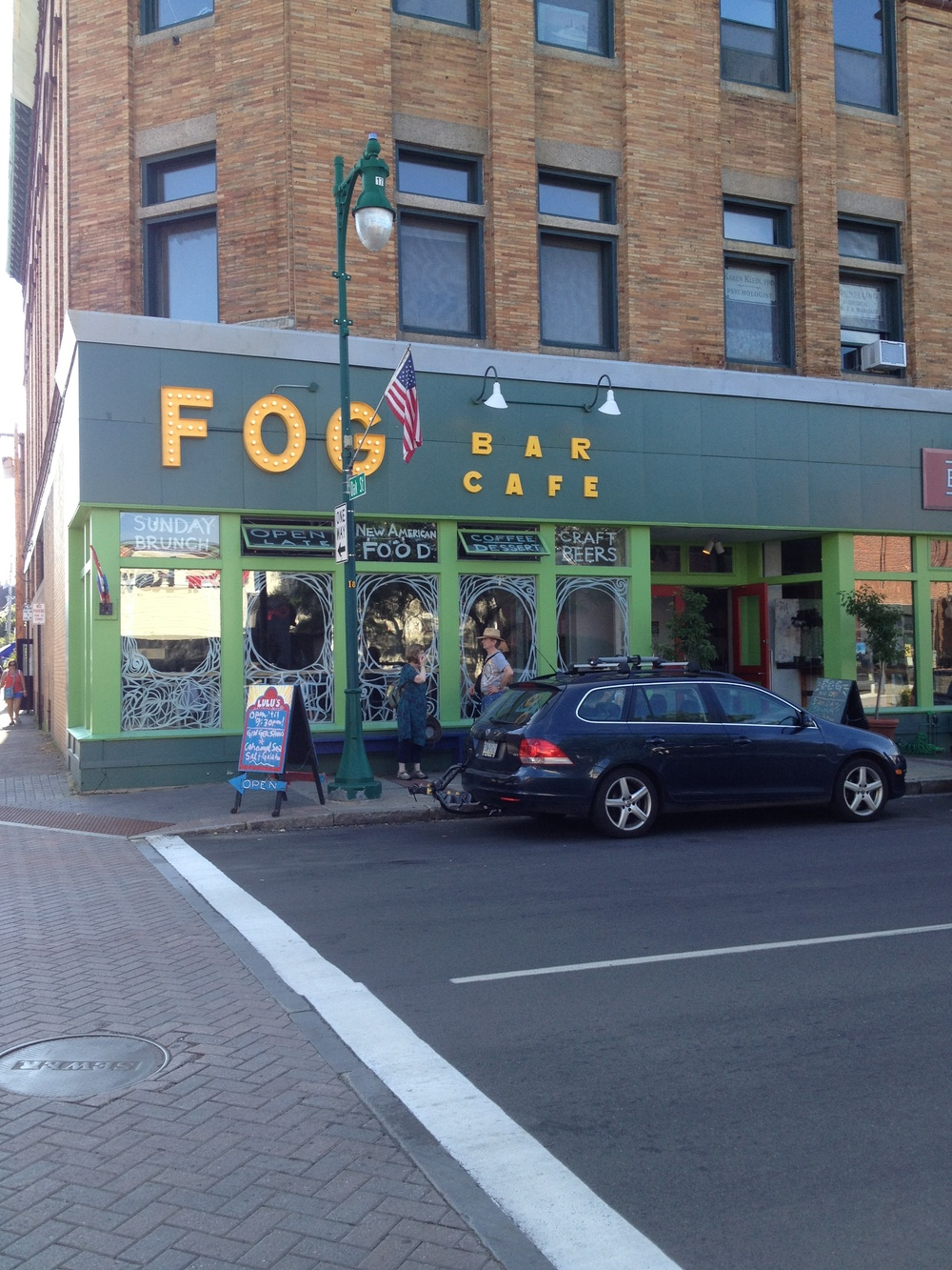 FOG bar + cafe Main Street, Rockland, ME.