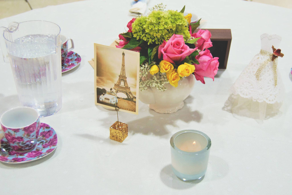 Modern Vintage Bridal Shower Travel Tea Party 10