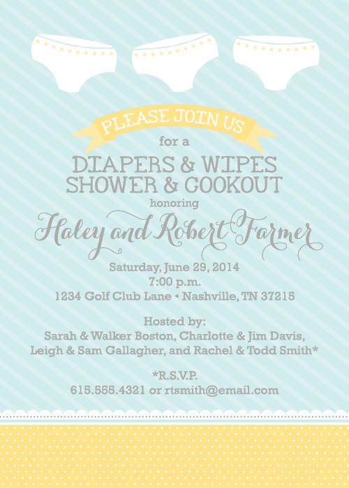 Baby Diaper Shower Invitation Wording Diaper Baby Shower Wording