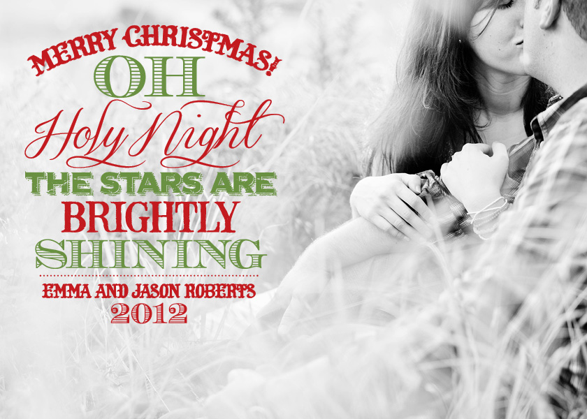 Oh Holy Night Text on Photo