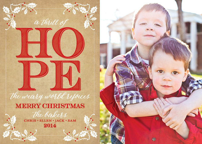 A7 Kraft Holly & Hope