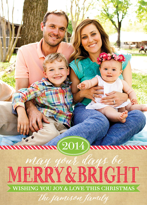 A7 Merry&Bright on Kraft