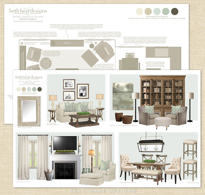 Virtual E-Design Home Plans by Beth Hart Designs