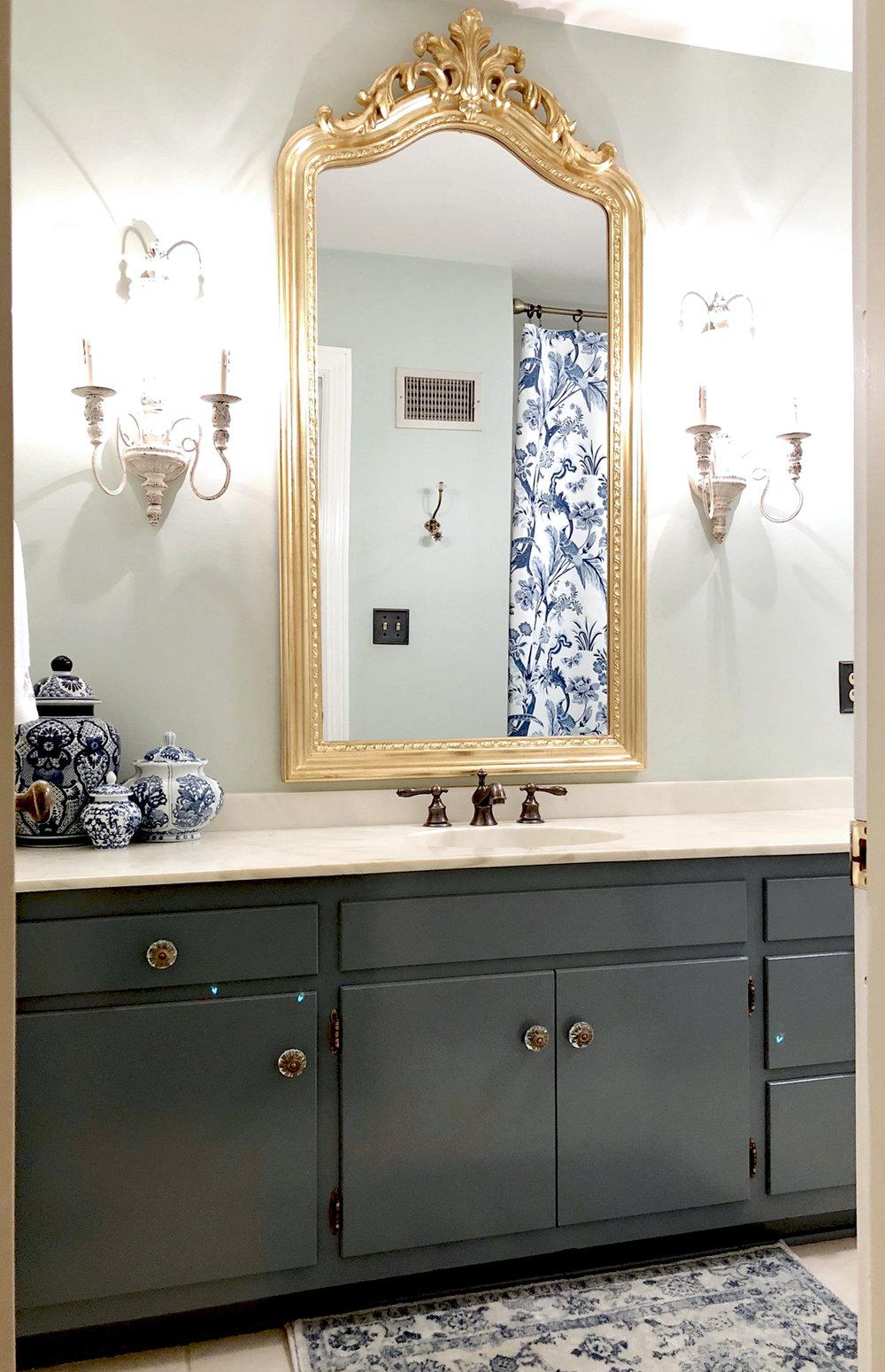 BudgetFriendly Guest Bathroom Makeover Beth Hart Designs - Cosmetic bathroom makeover