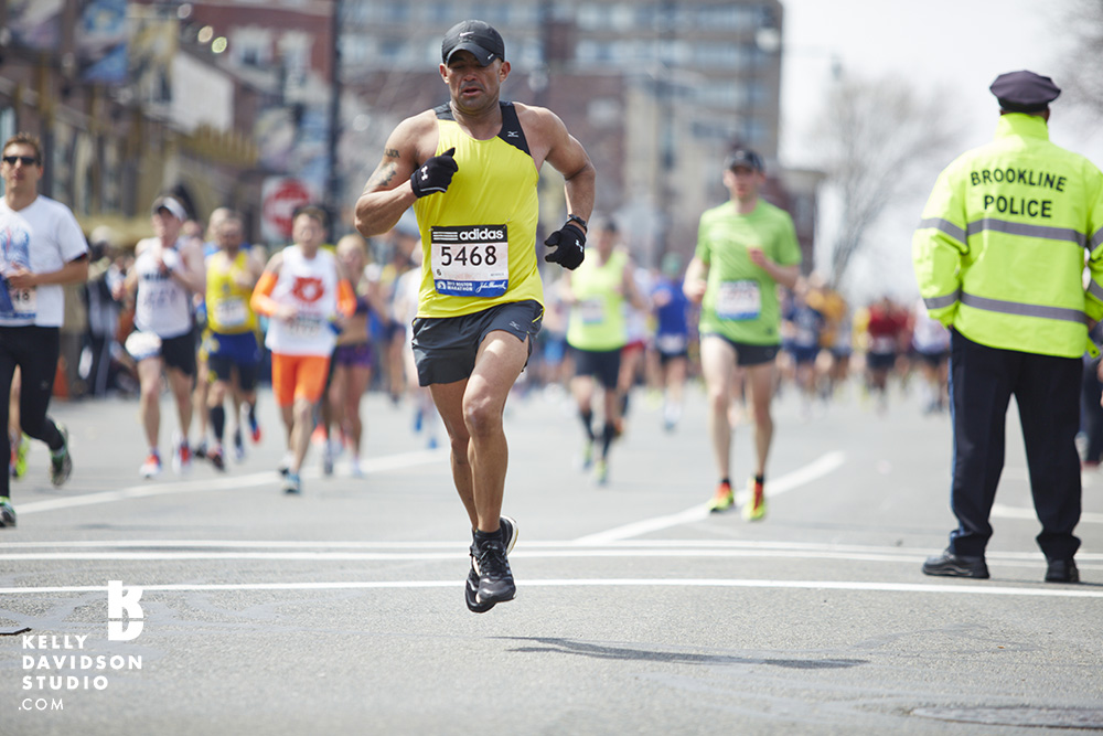 12:39:38 A runner mid-stride at Mile 23 at the Boston Marathon. 4.15.13