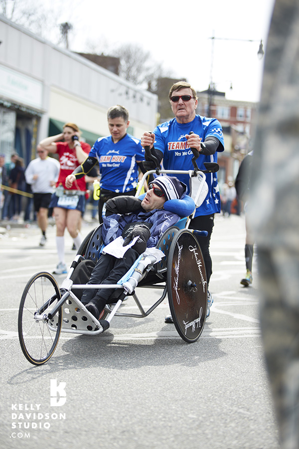 3:12:58 This year was the 31st year for Team Hoyt at the Boston Marathon. They didn't get to cross the finish line. 4.15.13