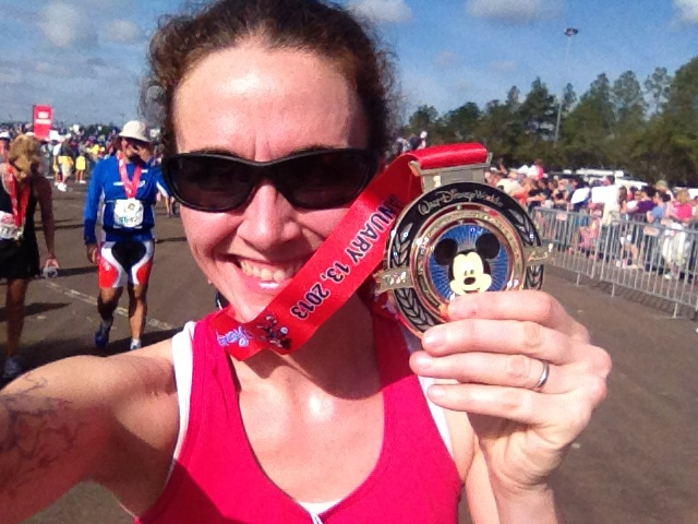 After finishing the Disney Marathon (my only marathon). 1.13.13