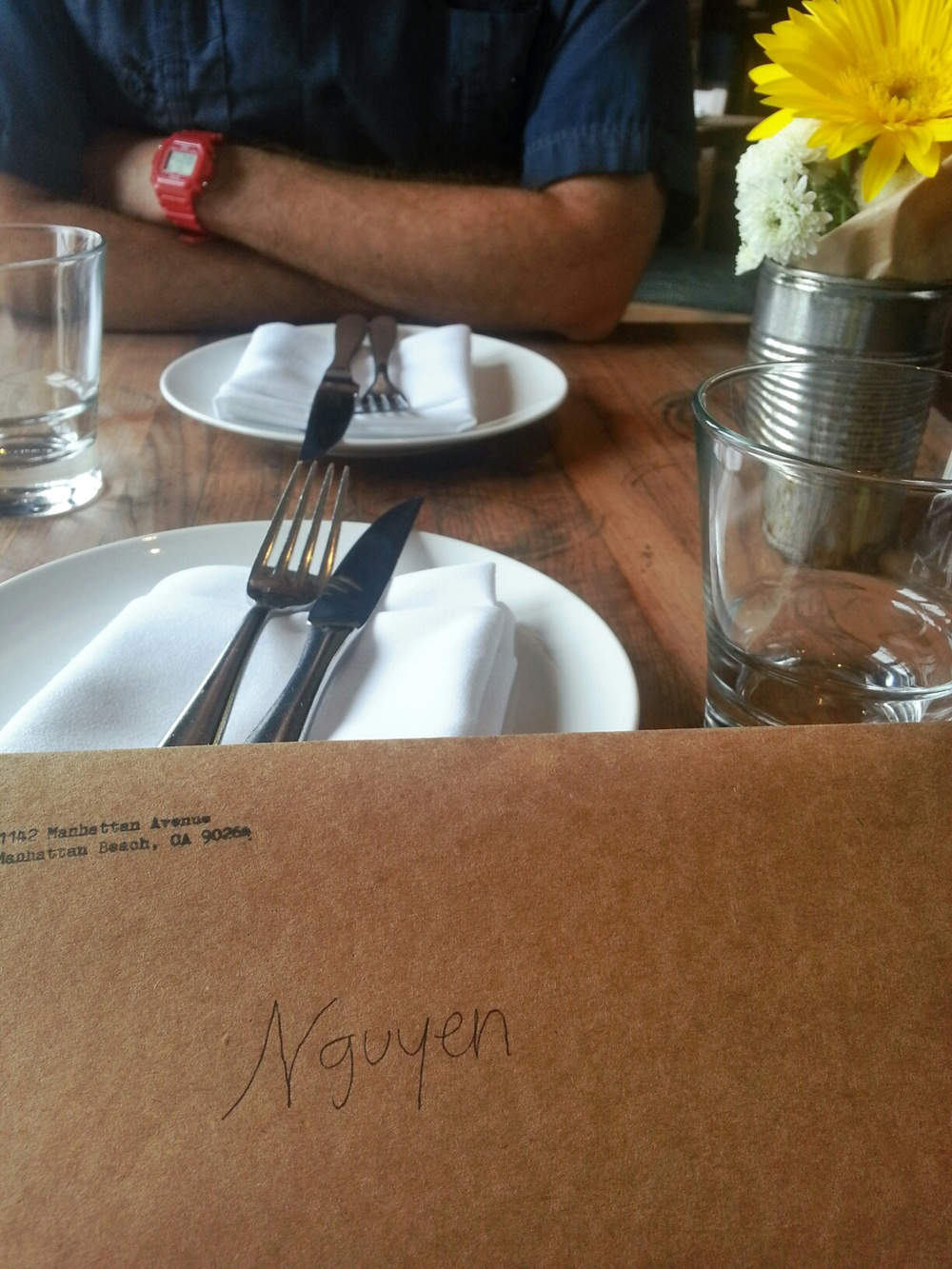 i love the personal touch - my last name on the menu