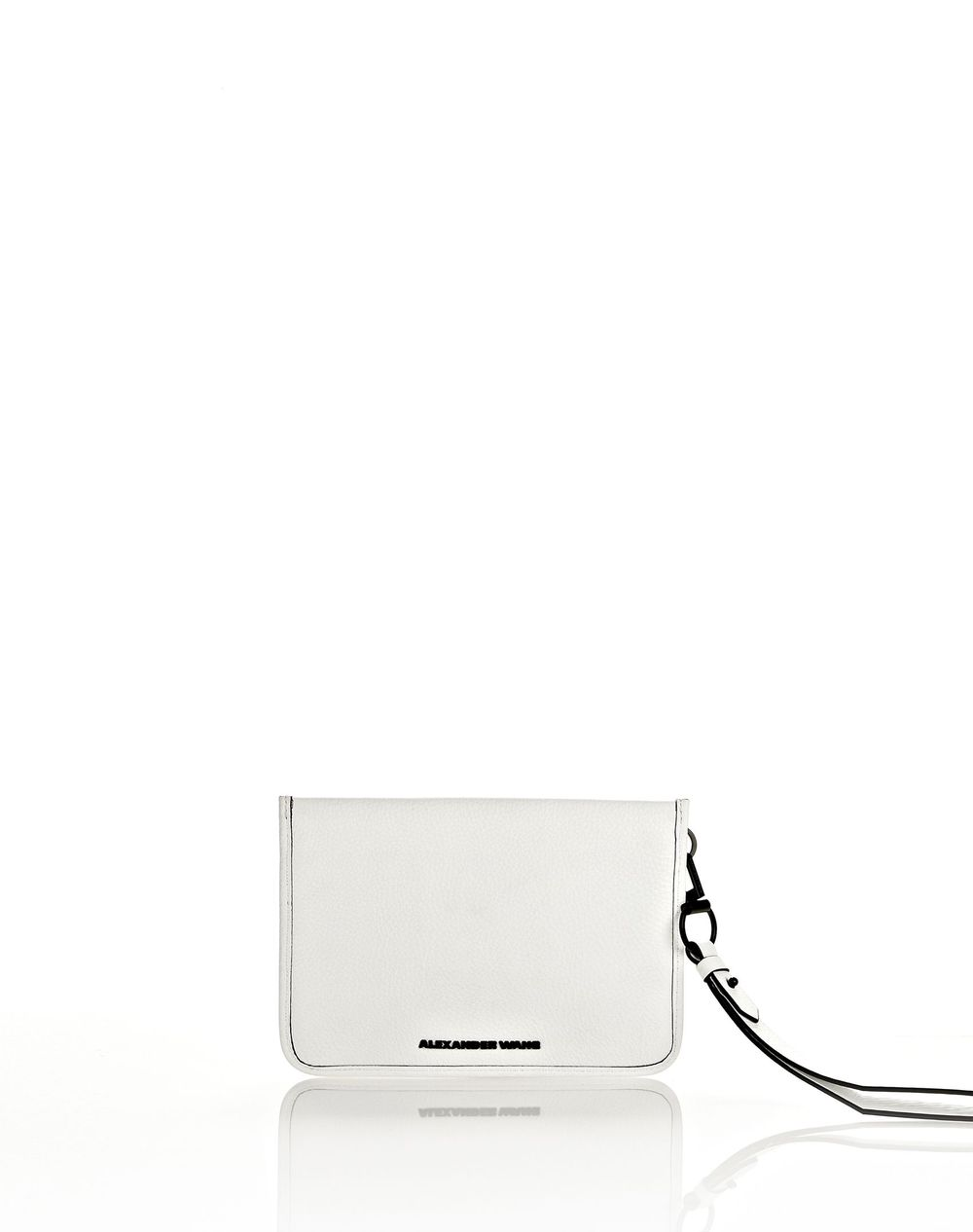 Alexander Wang Prisma Pochette Clutch in White with Matte Black ($260 Alexander Wang Shop)