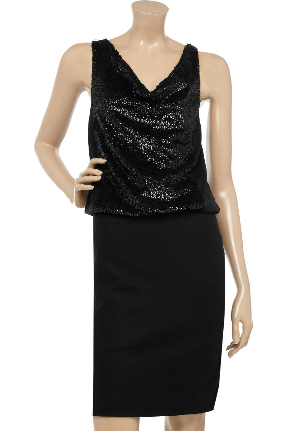 Tory Burch Idaline Sequined Stretch-wool Dress ($188 The Outnet)