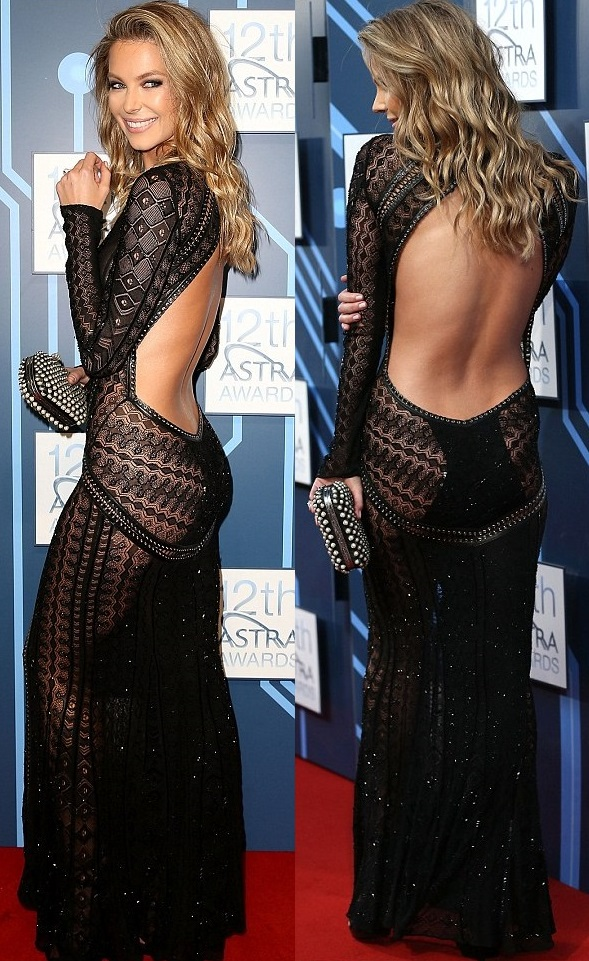 Worn by Jennifer Hawkins at the ASTRA Awards. Image source: Getty Images.