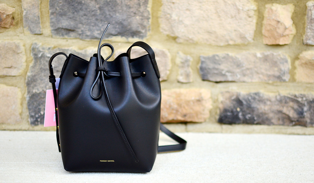 Mansur Gavriel Mini Bucket Bag in Black. How to buy a Mansur Gavriel bag.