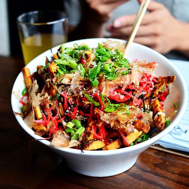 Okonomiyaki style fries