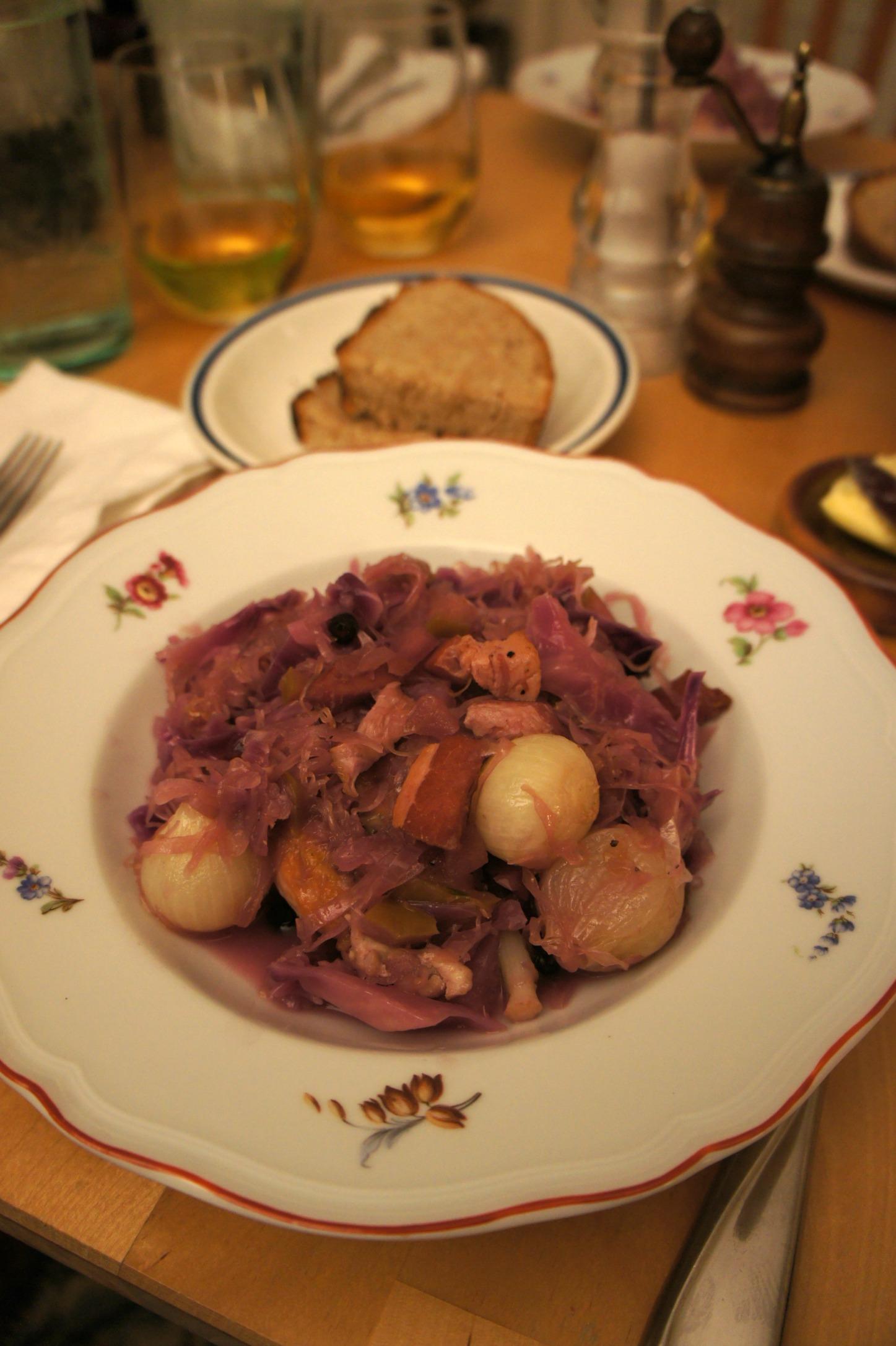 Braised Chicken with Cabbage